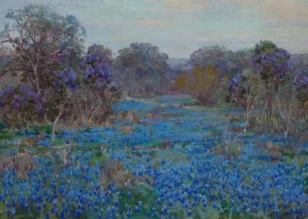 Julian Onderdonk's Field of Bluebonnets with Trees (estimate: $60,000+).