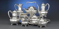 10-piece Tiffany & Company sterling 'Shrysanthemum' silver tea (1890, $198,500).