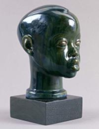 Sargent Claude Johnson (1888–1967) Head of a Boy, ca.  1928 Glazed stoneware, 7 ½ × 4 ¾ × 6 in.