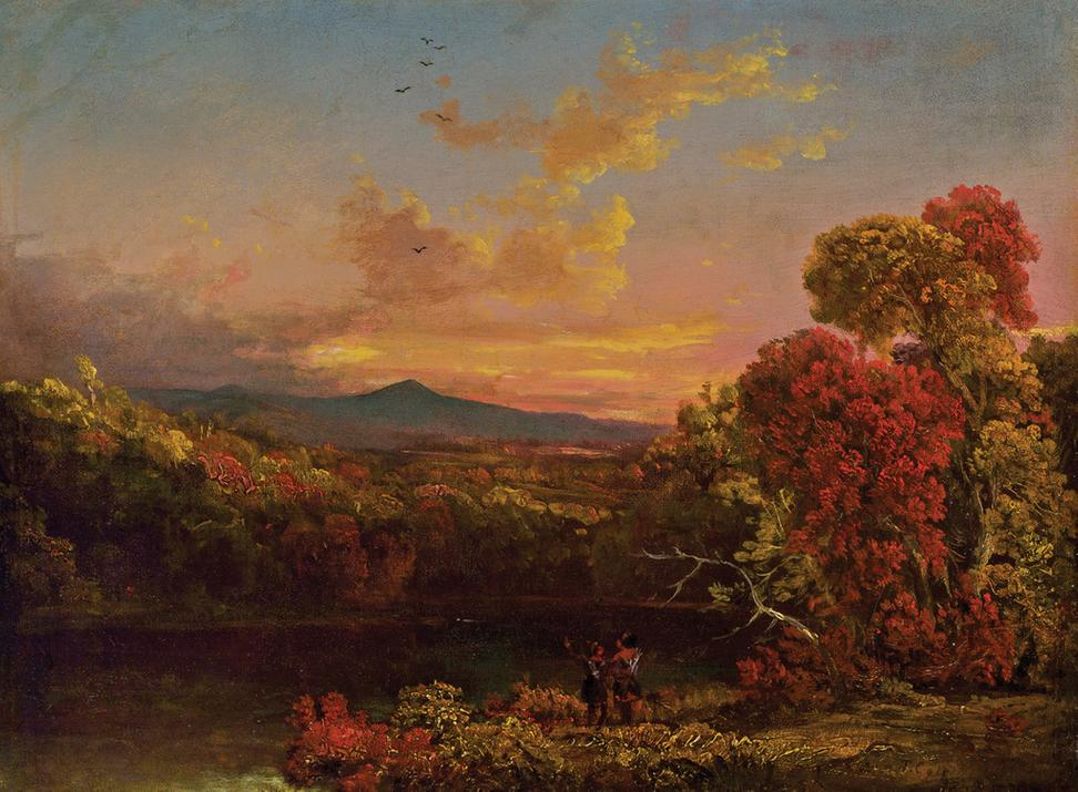 Luminist landscape with Indians by Hudson River School father Thomas Cole (est.  $150,000-$250,000).