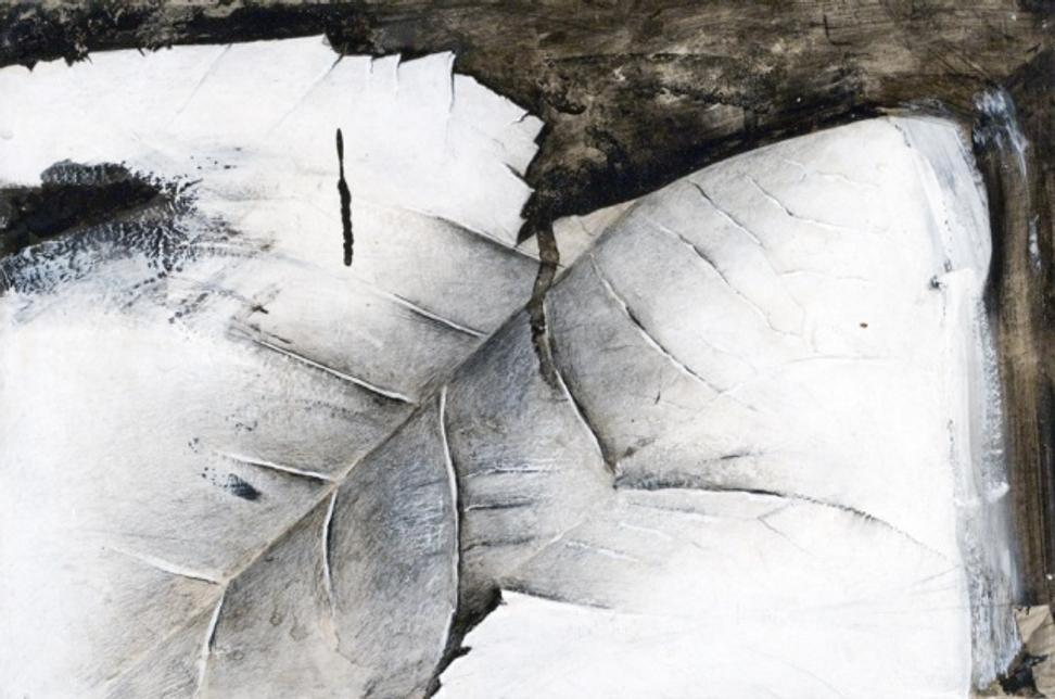 Jay DeFeo, Detail, Snake River Canyon, 1974.  Acrylic on ragboard, 10 × 15 inches