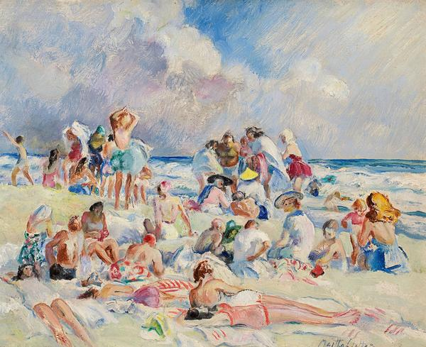Martha Walter's Beach Scene (estimate: $50,000+) .