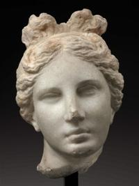Head of Aphrodite (Bartlett Head), Greek, 330–300 BC.