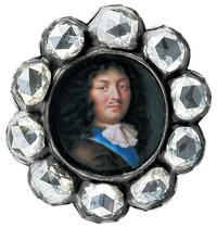 Bracelet Element with Miniature Portrait of Louis XIV by Jean Petitot (Swiss, Geneva 1607–1691 Geneva), ca.  1670.