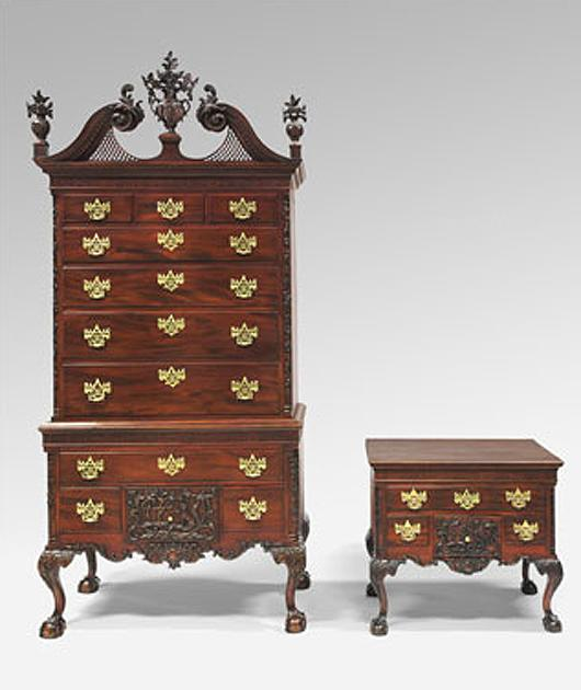 Philadelphia museum of art acquires the fox and the - White colonial bedroom furniture ...