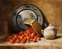 Richard La Barre Goodwin, Still Life with Strawberriesm, c.  1885, oil on canvas.  Gift of Alvin and Jean Snowiss, 2011.104.