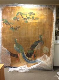 Panel from painted sliding doors (fusuma) attributed to Japanese artist Hashimoto Gaho (1835-1908)