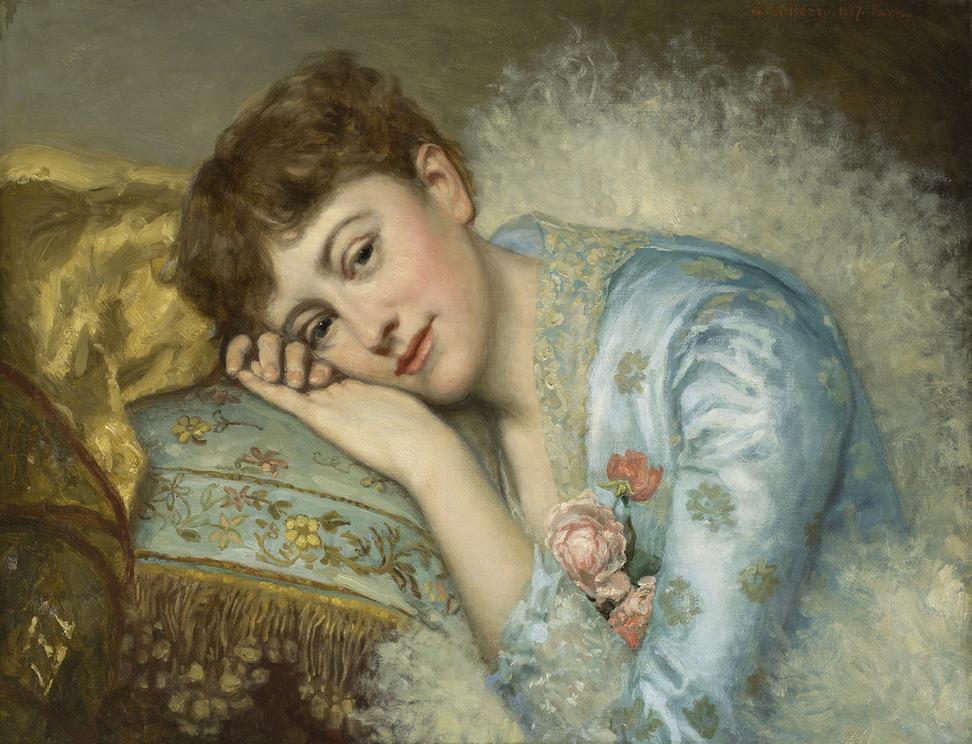 George Peter Alexander Healy (American, 1813 –1894).  Jeannette Ovington, 1887.  Oil on canvas.  New- York Historical Society, Gift of the Estate of Ina Love Thursby, through Walter M.  Brown, 1944.18