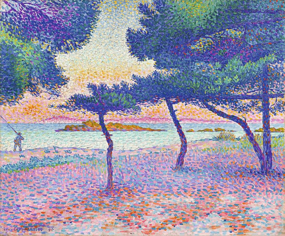 Henri-Edmond Cross, The Beach of Saint-Clair, 1896, private collection