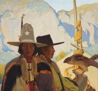 Victor Higgins (American 1884–1949) Apaches, ca.  1918 Oil on canvas, 40¼ × 43 in.  Stark Museum of Art, Orange, Texas, 31.17.14
