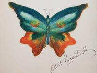 Oil on paper attributed to Albert Bierstadt (Am., 1830-1902), titled Butterfly, 8 inches by 9 ½ inches unframed (est.  $25,000-$30,000).