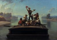 George Caleb Bingham (1811-1879), The Jolly Flatboatmen, 1877-78.  oil on canvas.  26 ¼ x 36 ¼ in.Terra Foundation for American Art, Daniel J.  Terra Collection, 1992.15.