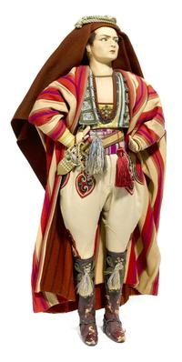"An extremely rare Lenci felt doll of Rudolph Valentino as seen in his film ""The Son of the Sheik"" Est.  $6,000-8,000"