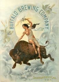 Buffalo Brewing Co.  calendar, Indian Maiden on Buffalo, sold for $21,875 at Witherell's recent Auction.