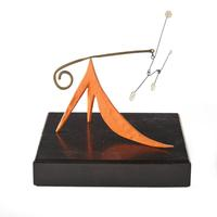 Alexander Calder (American, 1898-1976), Long Orange Tail, 1948, Sheet metal, brass, wire and paint, 3 3/4 x 4 x 2 1/2 inches.  Estimate: $150,000-250,000