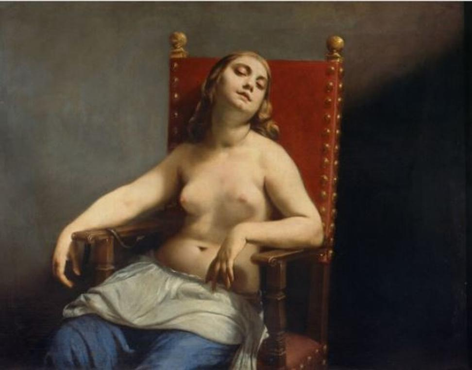 Guido Cagnacci (1601–1663), Italy, The Death of Cleopatra, circa 1660–62, oil on canvas, Pinacoteca di Brera, 2341