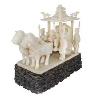 Carved jade chariot, Qin Dynasty, Lot 133.  Gianguan Auctions, March 10 sale.
