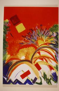 Ce Roser, Red Letter Day, 1987, Oil on Canvas, 54 x 72 in.