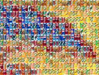 "Chris Jordan, Detail of ""Cans Seurat"""