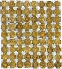 "Outstanding 36-coin ""Harts Coins of the West"" set of gold coins (or tokens), a colorful commemoration of all U.S.  gold rush locales, in grades from MS 63 to MS 66 ($41,572)."