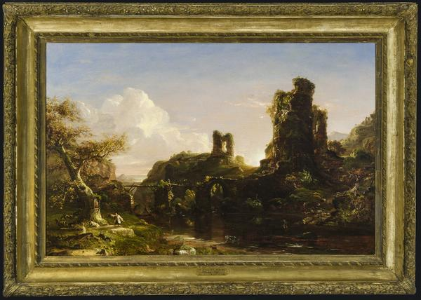 Thomas Cole (American, 1801–1848).  An Italian Autumn, ca.  1847.  Oil on canvas.  Oklahoma City Museum of Art.  Museum purchase with funds from the James C.  and Virginia W.  Meade Collections Endowment, the Meade Acquisition Fund, and the Beaux Arts Society Fund for Acquisitions, 2019.001