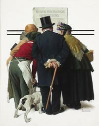 Rockwell presents a stirring social commentary in The Common Touch, which was used as the January 18, 1930 cover of the Saturday Evening Post.