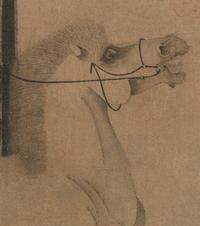 Night-Shining White.  China, Han Gan (active ca.  742–56), Tang dynasty (618–907), ca.  750 (detail).  Handscroll; ink on paper, 12 1/8 x 13 3/8 in.  Purchase, The Dillon Fund Gift, 1977 (1977.78