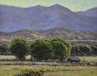 "Dan Young's, ""June Morning,"" Oil on Panel, 14″ x 18″"
