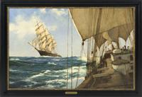 """Ships That Pass"" by Montague Dawson"