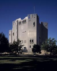 The Denver Art Museum's iconic 1971 North Building, designed by Gio Ponti and James Sudler Architects of Denver.
