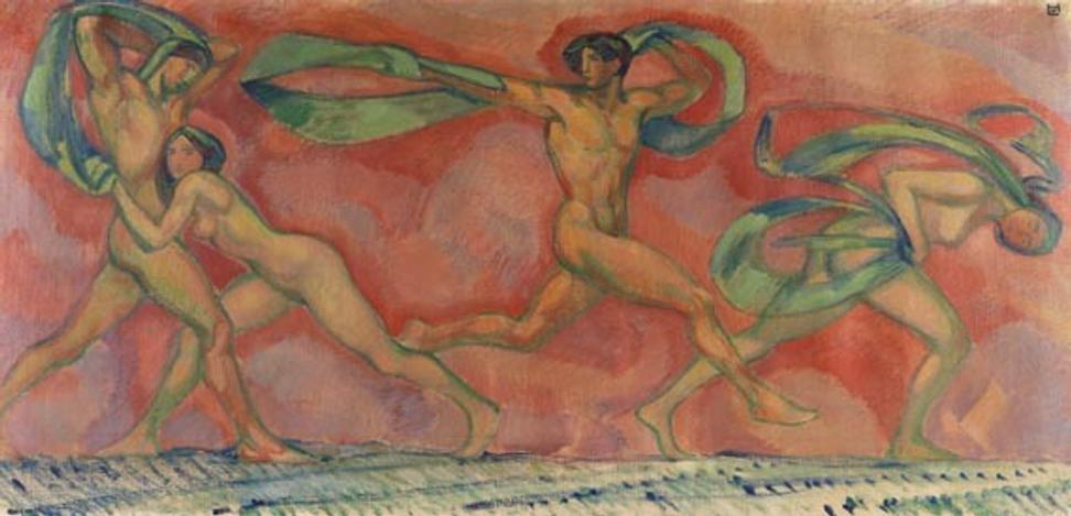 """""""Tanzfries"""" by Ludwig von Hofmann"""