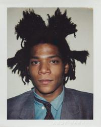Andy Warhol, Jean-Michel Basquiat, 1982, Polacolor ER, 10.8 x 8.5 cm.  ©2018 The Andy Warhol Foundation for the Visual Arts, Inc.  Licensed by DACS, London.  Courtesy BASTIAN London.
