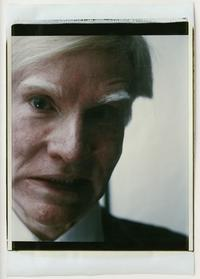 Andy Warhol, Self-Portrait, 1979, Polaroid Polacolor print, 81.3 x 55.9 cm.  ©2018 The Andy Warhol Foundation for the Visual Arts, Inc.  Licensed by DACS, London.  Courtesy BASTIAN, London