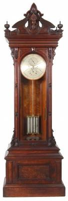 This E.  Howard No.  68 floor standing astronomical regulator clock brought a record $277,300.