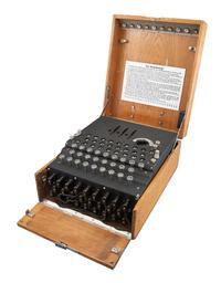 Three-Rotor Service Enigma Machine (Engima 1), [Heismoeth & Rinke]: 1940s.  From a Private Minneapolis Collection.  Est.  $80,000-120,000.