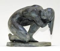 The sale's top lot was this fine bronze sculpture by Mexican-born realist Enrique Alferez (1901-1999), dated 1983 and titled The Bather ($13,750).