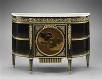 A commode with corner cupboards attributed to Claude‑Charles Saunier