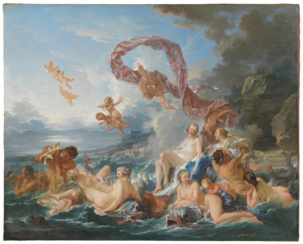 François Boucher (French, 1703–1770), The Triumph of Venus, 1740, oil on canvas.  Nationalmuseum, Stockholm.  Photo: Cecilia Heisser / Nationalmuseum.