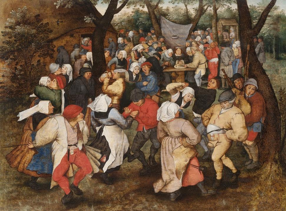 "Pieter Brueghel the Younger, ""Wedding Dance in the Open Air"" (1607–14) (photo by Dominic Brown, © Holburne Museum)"