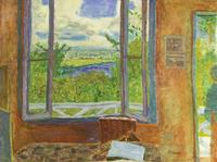 Pierre Bonnard, Fenêtre ouverte sur la Seine (Vernon), 1911–12.  Open Window towards the Seine (Vernon).  Oil on canvas, 78 × 105.5 cm.  Musée des Beaux-Arts de Nice.