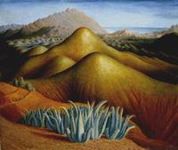 Dora Carrington, Spanish Landscape with Mountains c.1924.  Tate.