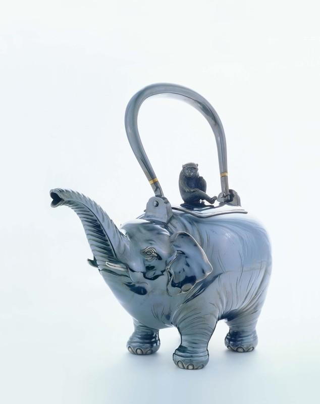 An art bash for animals lovers at the inaugural art and antique dealers league of america spring - Elephant shaped teapot ...