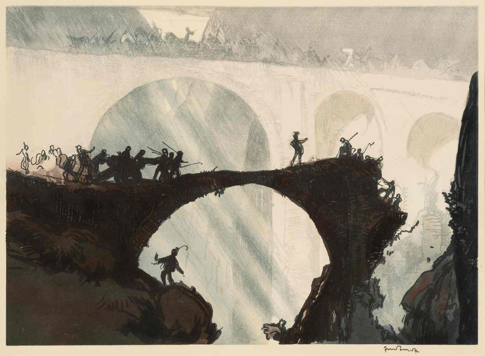 Yoshijiro Urushibara after Frank Brangwyn, Devil's Bridge, St Gothard's pass, c.  1924