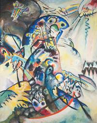 Wassily Kandinsky, Blue Crest (detail), 1917.  Oil on canvas.  133 x 104 cm.  State Russian Museum, St.  Petersburg Photo © 2016, State Russian Museum, St.  Petersburg.