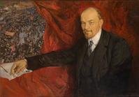 Isaak Brodsky, V.I.Lenin and Manifestation, 1919.  Oil on canvas.  90 x 135 cm.  The State Historical Museum Photo © Provided with assistance from the State Museum and Exhibition Center ROSIZO.