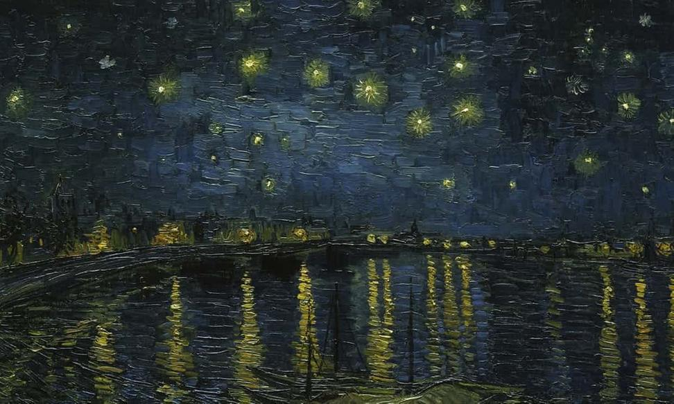 Image result for Starry Night on the Rhône 1888 from the Musée d'Orsay, Paris,