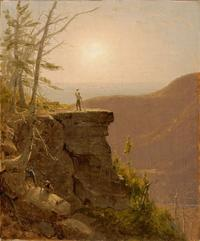 Sanford Gifford, Ledge on South Mountain, in the Catskills, ca.  1861-62.  Oil on canvas, 12 7/8 x 10 ¾ in.  Framed: 17 1/4 x 15 x 2 1/4 in.  Harvard Art Museums/Fogg Museum, Gift of Sanford Gifford, M.D, 2006.1.  Photo © Imaging Department, president and Fellows of Harvard College