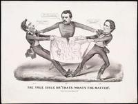 "Currier & Ives.  The True Issue or ""Thats Whats the Matter"".  New York, 1864.  Lithograph.  Collection Norman B.  Leventhal Map Center at the Boston Public Library."