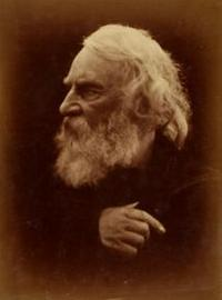 Julia Margaret CAMERON (English, born in India, 1815-1879) Henry Wadsworth Longfellow, 1868.  Albumen print from a wet collodion negative, 35.5 x 26.3 cm.
