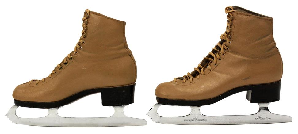 Peggy Fleming's pair of custom-made ice skates by Harlick of California